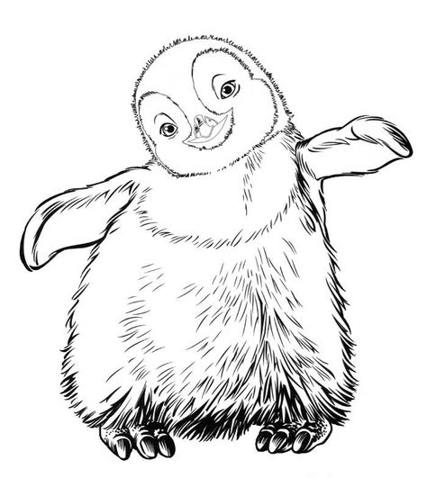 Coloring Page Happy Feet Happy Feet Penguin Coloring Pages