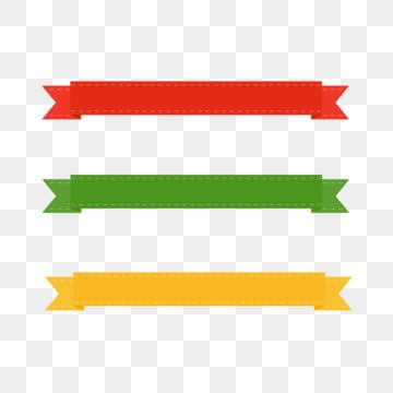 Vector Flat Colorful Ribbon Banner Elements Vector Red Yellow Png And Vector With Transparent Background For Free Download Ribbon Banner Banner Shapes Free Vector Graphics