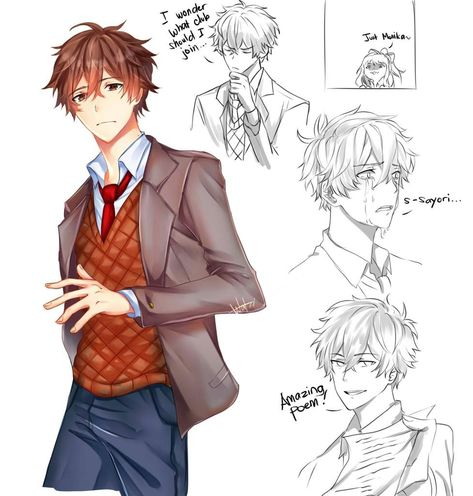 Male!DDLC x Female!Reader - Welcome to the literature club!