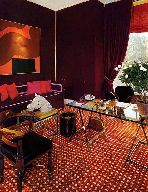 marsala room by David Hicks