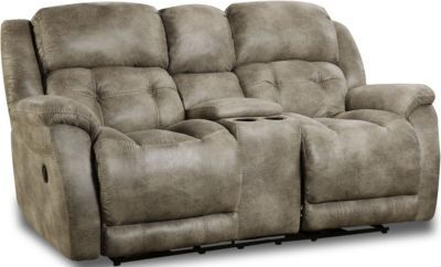 Homestretch Mclean Gray Rocking Console Loveseat Homemakers