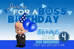 Free Boss Baby Party Invitation Template Baby Party Invitations Baby Birthday Party Invitations Baby Birthday Invitations