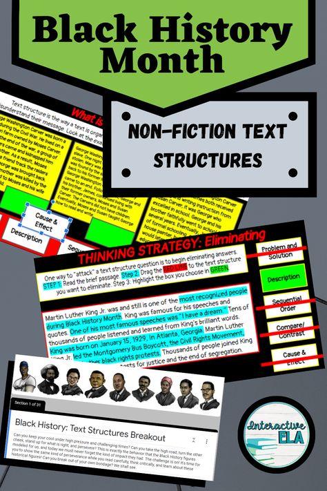 Black History Month: Nonfiction Text Structure