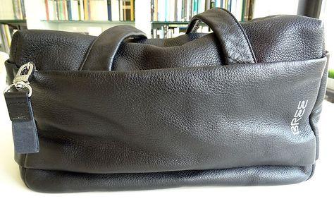 BREE-Handtasche aus butterweichem schwarzen Leder - eine Schönheit aus meiner Taschensammlung.