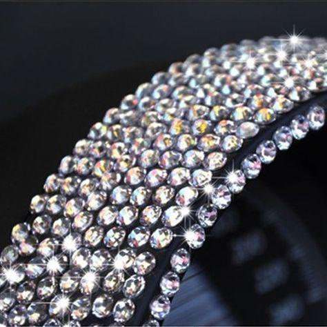 Gifts & Merchandise DIY Bling Crystal Rhinestone car Cellphone Mobile Decoration Sticker gems Scrapbooking Embellishments AB Automotive