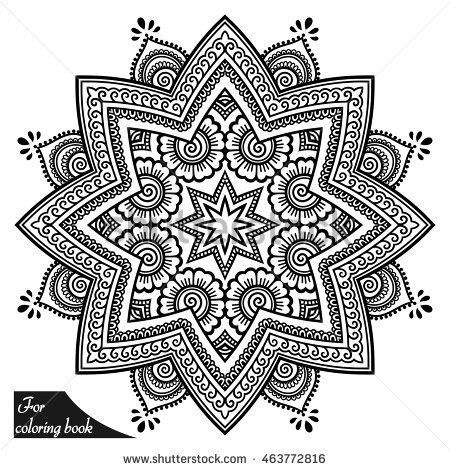 Mandalas Coloring Book Decorative Round Ornaments Stok Vektor Telifsiz 608137790 Mandalas Coloring Book Decora In 2020 Tattoo Coloring Book Mehndi Style Henna Tattoo