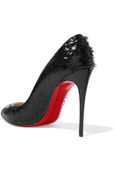 detailed look 17828 5da0e Christian Louboutin - Pigalle Follies 100 fringed patent ...