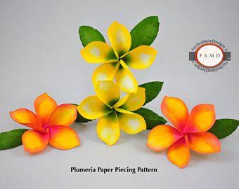 Image Result For Images Heartfelt Plumeria Die Flowers Paper Piecing Patterns Flower Cards Flower Svg