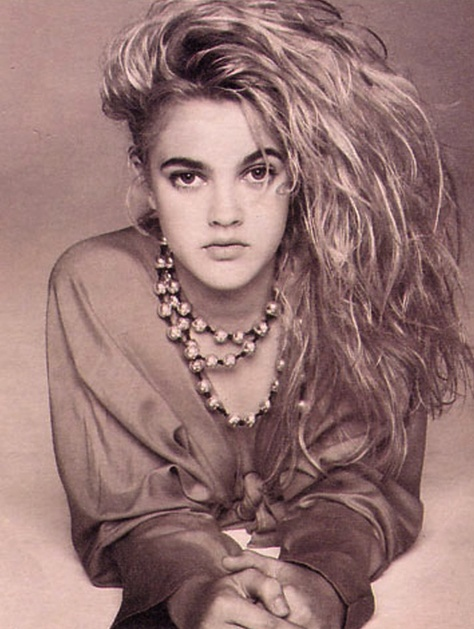 A Young Drew Barrymore, THAT HAIR!   women   Pinterest   Famous ...