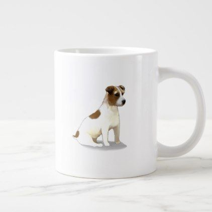 Jack Russell Terrier Dog Sitting Giant Coffee Mug Zazzle Com Dog Sitting Jack Russell Terrier Terrier Dogs