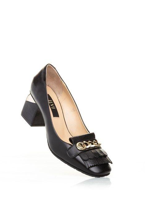 Alef Bayan Topuklu Ayakkabi Siyah Deri Ilvi Shoes Salvatore Ferragamo Flats Ferragamo Flats