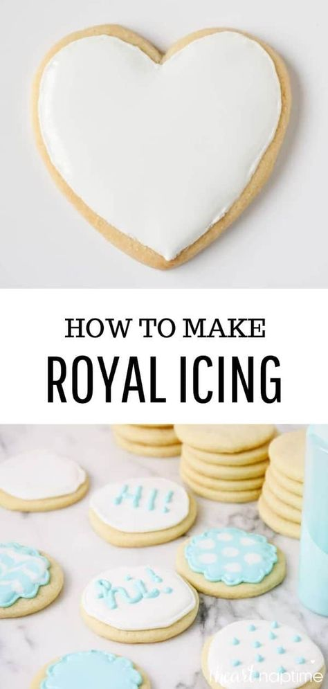 how to frost royal icing cookies with this easy step-by-step tutorial. These helpful tips and tricks are perfect for beginners! how to frost royal icing cookies with this easy step-by-step tutorial. These helpful tips and tricks are perfect for beginners! Valentines Day Cookies, Holiday Baking, Christmas Baking, Christmas Time, Sugar Cookie Royal Icing, How To Make Icing, Galletas Cookies, Owl Cookies, Holiday Cookies