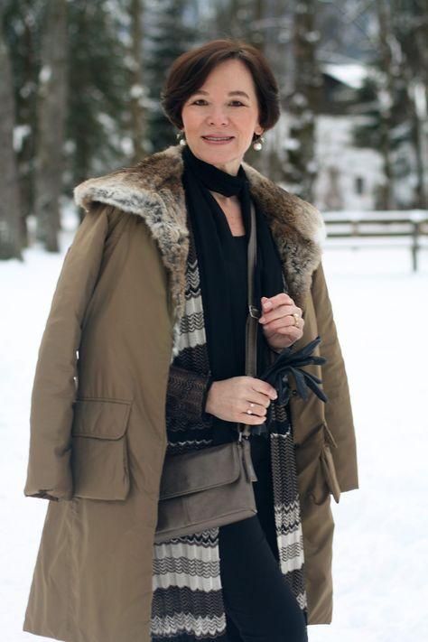 Easy chic im Winter in Schwarz und kühlem Silber | Lady of Style