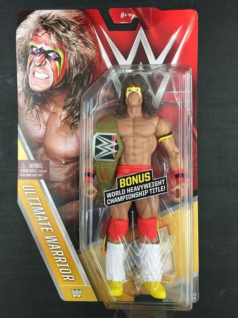 WWE MATTEL BASIC SERIES 56 THE ULTIMATE WARRIOR WRESTLING FIGURE WWF