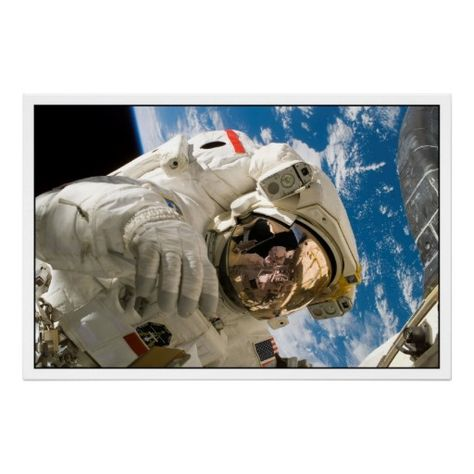 Piers Sellers Spacewalk Nasa Posters - Custom Posters - Design Your Own Wall Art - Create Personalized Prints