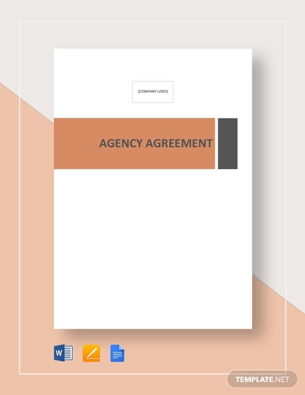 Agency Agreement Templates Agreement Book Cover Design