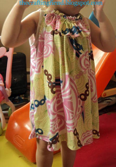 Swinging Swingy Dress. Free pattern 2/3T and Tutorial
