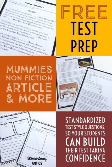 FREE Test Prep Non Fiction Passage and More
