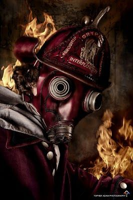 Firefighting Poster Art Print Shining Bright Antique Hemet Gear Badges MVP329