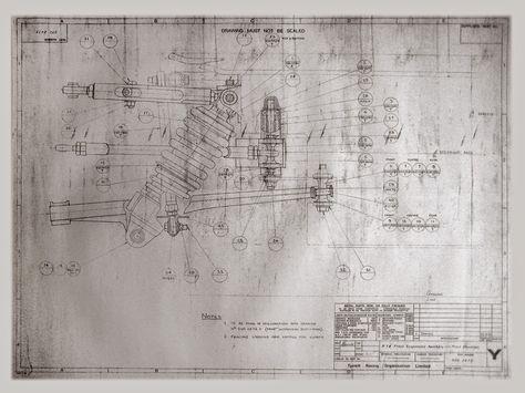 Repco-Brabham 30 V8 Connecting Rod Blueprint Race Car Blueprints - copy car blueprint website