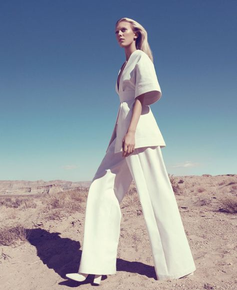 White Clothing Trend - White Clothing Spring 2013 Fashion Editorial - Harper's BAZAAR