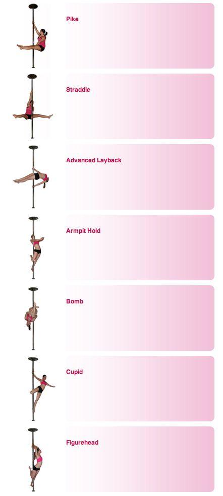 Pole Dance Training - Intermediate Poses Part 2 ❤