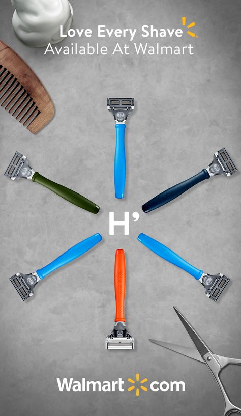 Find A Razor That Suits You The New Surf Blue Truman Razor Kit From Harry S Available Only At Walmart Harrys Only At Walmart Suits You Sir