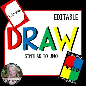 Blank Uno Cards Editable Sight Words Uno Cards Sight Word Reading