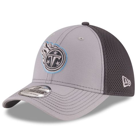 Tennessee Titans New Era Grayed Out Neo 2 39THIRTY Flex Hat - Gray Graphite 71d8582a0