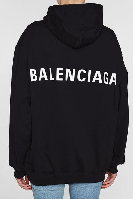 Balenciaga Logo Back Cotton Hoody | Fashion, Balenciaga