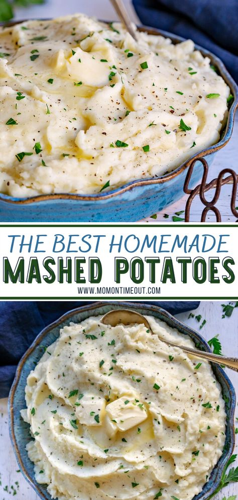 Side Dishes Easy, Side Dish Recipes, Dinner Recipes, Southern Side Dishes, Easy Mashed Potatoes, Thanksgiving Mashed Potatoes Recipe, Homemade Mashed Potatoes Recipe, Cheesy Potatoes, Roasted Potatoes