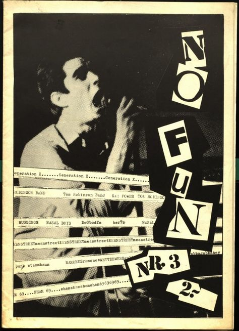 I like the classic punk text on this cover 'No Fun' I will try to use this in my work