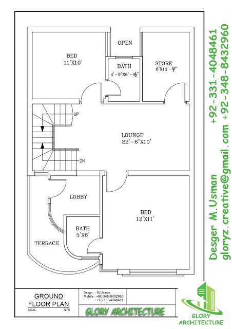 25x30 House Plan Elevation 3d View 3d Elevation House Elevation Glory Architecture Single Story House Floor Plans 20x30 House Plans My House Plans