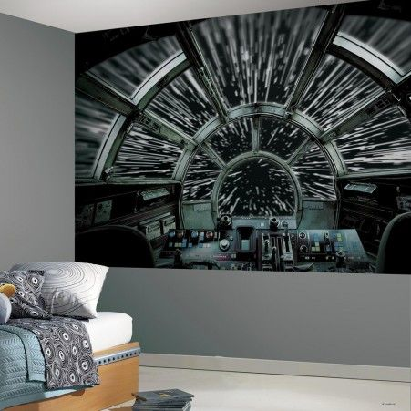 Star Wars Millennium Falcon Peel and Stick Mural