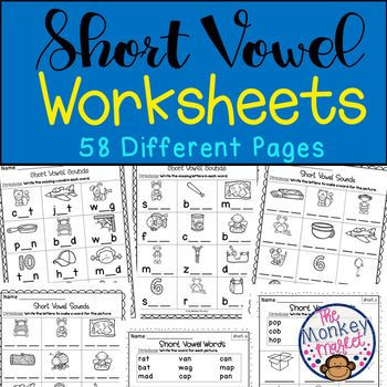 Short Vowel Worksheets Vowel Worksheets Short Vowels Phonics