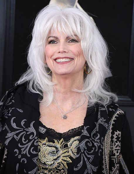 Emmylou Harris Arrives At The 60th Annual Grammy Awards At Madison