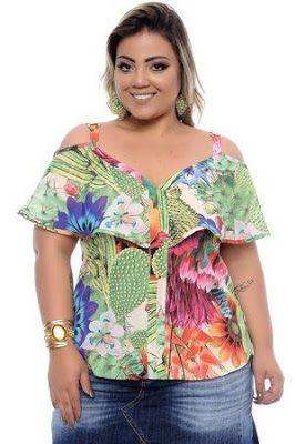 b260b30e2 Babados e ombro a ombro - plus size   moda pluss   Roupas femininas ...