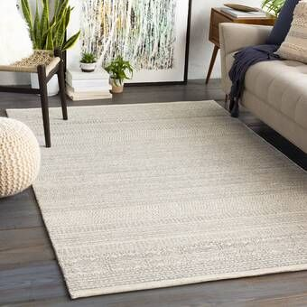Joss Main Elissa Hand Woven Ivory Area Rug Reviews Wayfair Area Rugs Cream Rug Charcoal Rug