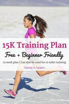 This 15K training plan is perfect for beginner runners! It will bring you from running a mile and a half up to the 15K distance in just 12 weeks. | running for beginners | 15K run | 10 mile training plan | #fitness #running #training #trainingplan #trainingprogram #trainingschedule #runner #15K