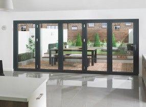 Supreme 5m Grey Aluminium Triple Glazed Cheap Exterior Doors Aluminium Sliding Doors Oak Exterior Doors