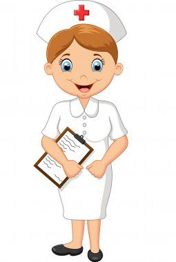 Ilustracion De Stock De Enfermera Dibujo Artistico De Enfermera Sin Royalties Descargar E Profesiones Para Ninos Oficios Y Profeciones Oficios Y Profesiones