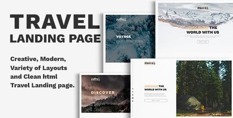 Provel - Travel Responsive Landing page