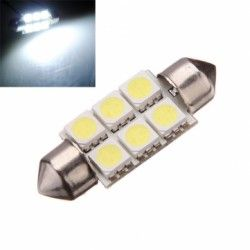 2 X 40mm 6 Smd 24v Led Car Interior Dome White Light Bulbs White Light Bulbs Dome Lighting Light Bulbs