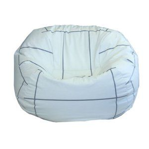 Vinyl Volleyball Bean Bag Chair Volleyball Bedroom Volleyball Room Kids Sports Room