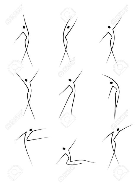 Stock Vector Vector – Abstract female figures in movement – Best Art images in 2019 Movement Drawing, Gesture Drawing, Line Drawing, Drawing Tips, Drawing Sketches, Drawing Ideas, Contour Drawings, Abstract Sketches, Drawing Poses