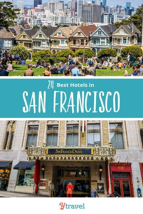 Planning to visit San Francisco? Check out this San Francisco Hotels Guide about 24 of the best hotels in San Francisco from budget to luxury in the most popular San Francisco neighborhoods. Don't take a San Francisco, California vacation before reading these San Francisco travel tips. #SanFrancisco #California #travel #hotels #vacation #familytravel #californiatravel