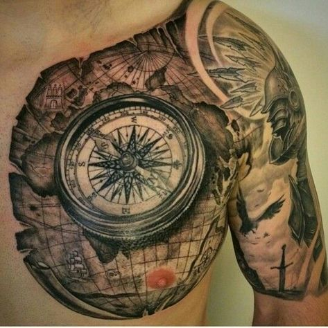 Tatuajes de ✅ BRÚJULAS para todos los gustos, encontraras el diseño que mejor valla contigo ⭐ ENTRA A LA WEB PARA VER MAS TATUAJES DE ⭐ BRÚJULAS Y RELOJES