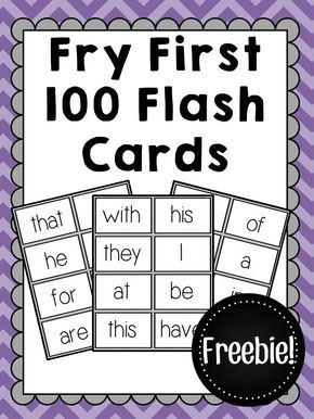 image relating to Free Printable Sight Word Books for First Grade known as Fry Initially 100 Sight Term Flashcards - Free of charge 1st Quality