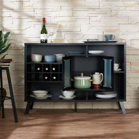 Landers Mid Century Modern 47 Inch Cappuccino Buffet Server By Foa