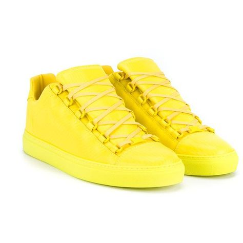 2c917c6d6169 BALENCIAGA Arena Leather Hi-Tops (830 BGN) ❤ liked on Polyvore featuring  mens